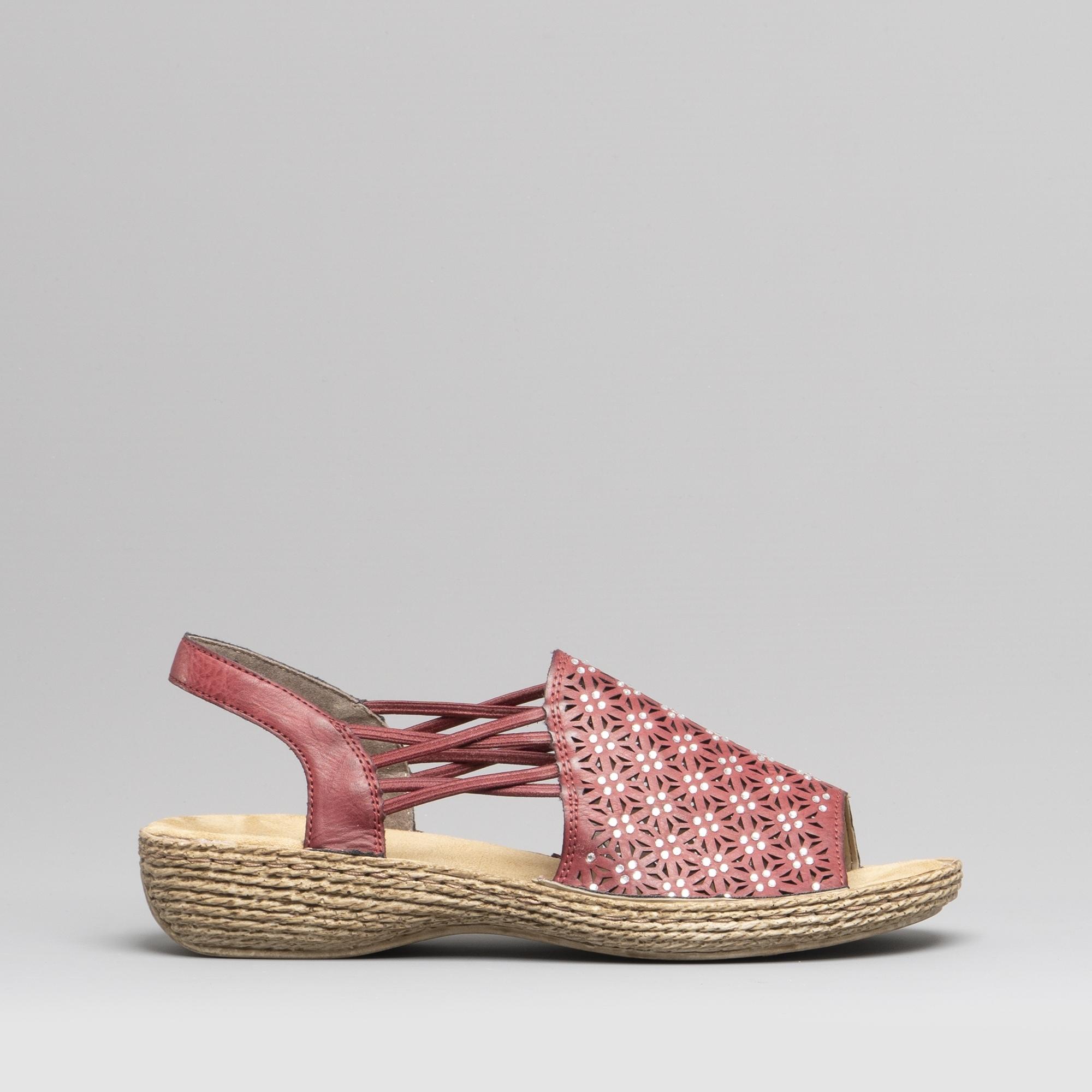 Slip On Wine 658b2 Rieker Ladies Sandals 35 PkZXuTiO