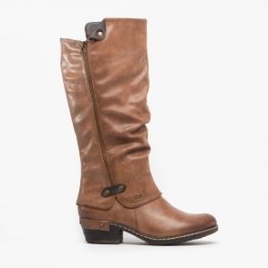 Ladies Calf Winter Boots 94778 Warm 00 Rieker Cosy Mid Black USMVzp