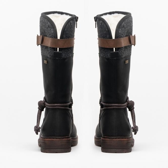 Ladies Black Calf 94778 Mid Boots 00 0Z8nPNOkXw
