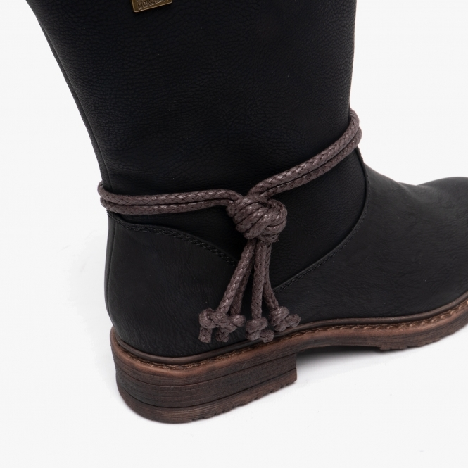 Womens Polar Low Wedge Heel Waterproof Rubber Sole Lace Up Thermal Boots UK 3-10