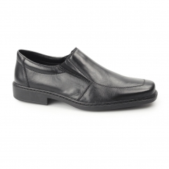 Rieker B0875 Mens Leather Extra Wide Shoes Black