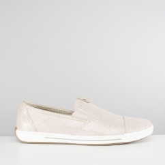 Rieker L3051-31 Ladies Slip On Casual Trainers Rose Pink