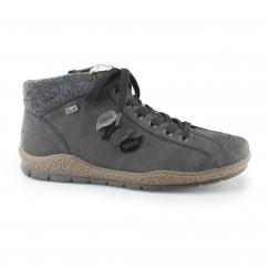 L9604-45 Ladies Warm Lined Zip Up Boots Grey