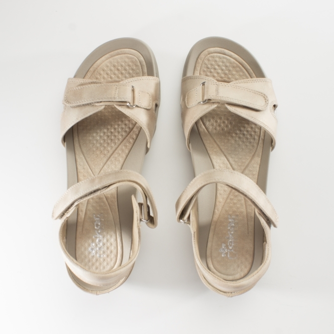 separation shoes 6ac76 17308 V9462-62 Ladies Touch Fasten Casual Sandals Nude