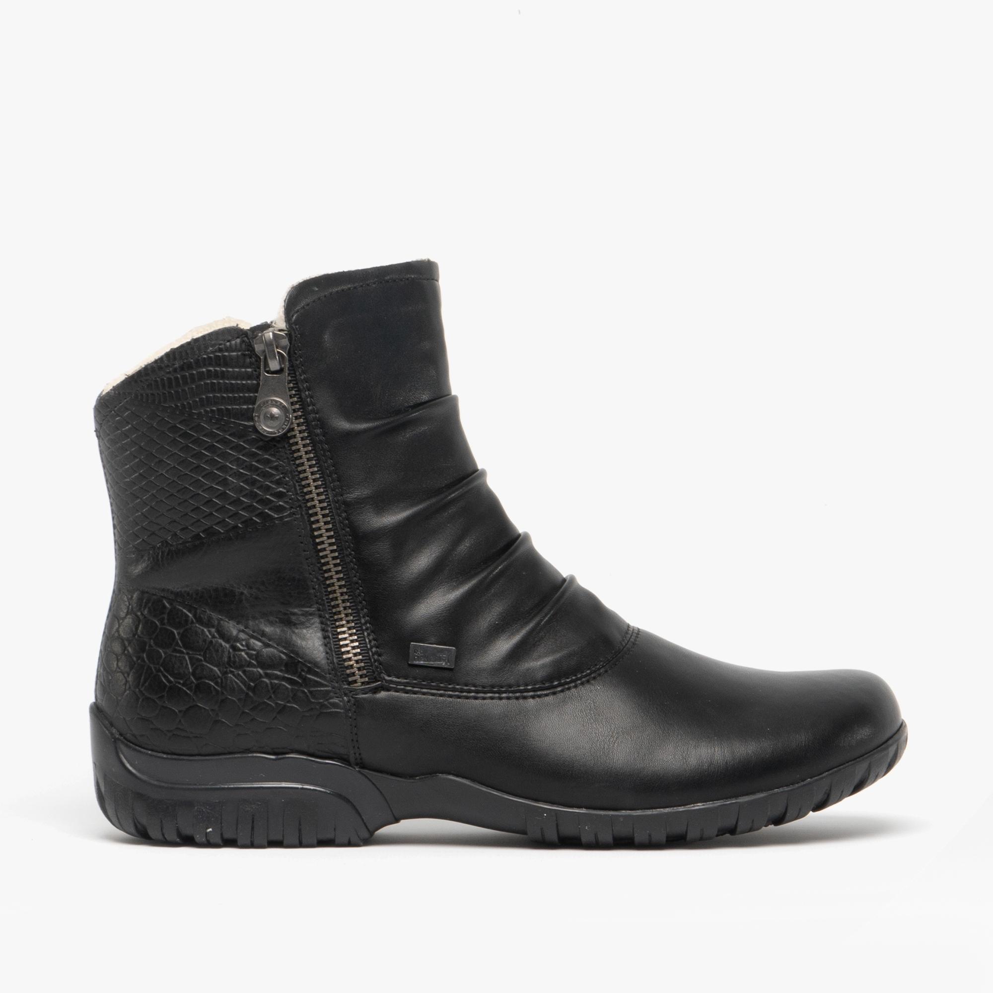 promo code 57ec8 7ed2f Rieker Z4663-01 TEX Ladies Warm Lined Winter Boots Black
