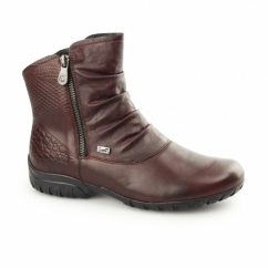Z4663-35 TEX Ladies Warm Lined Winter Boots Wine