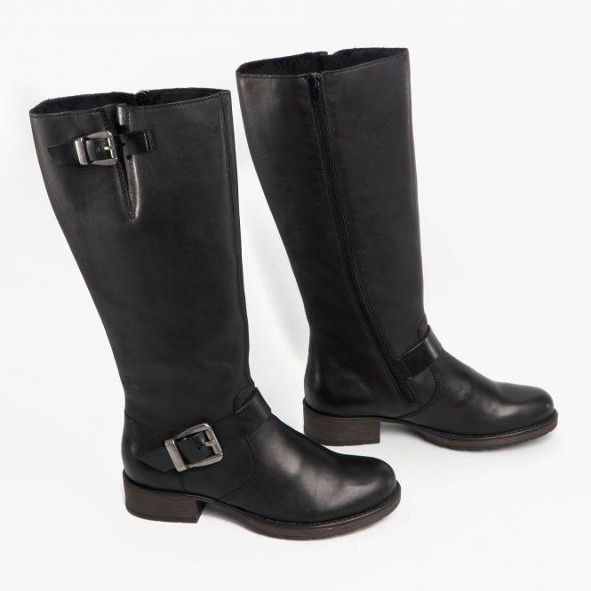 7c73532a0222d Z9580-00 Ladies Leather Tall Riding Boots Black