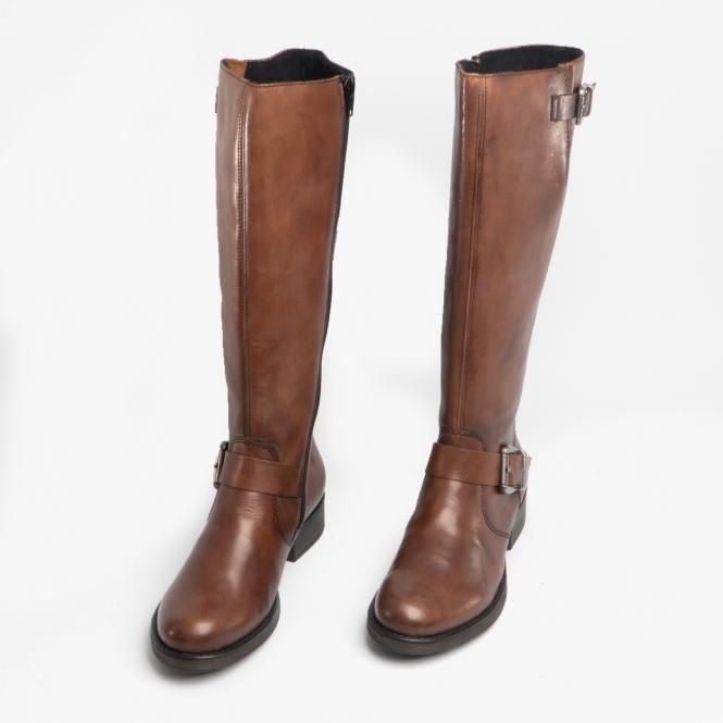 exquisite handwerkskunst offizieller Verkauf bestbewertet Z9580-25 Ladies Leather Tall Riding Boots Brown