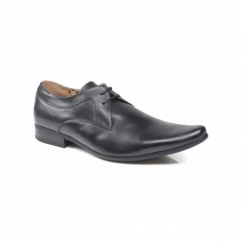 RIPLEY 2 Mens Leather Lace-Up Shoes Black