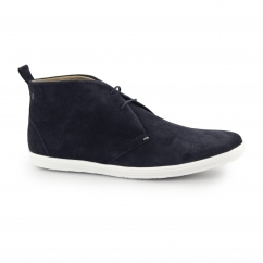 Base London ROADIE Mens Suede Casual Desert Boots Navy