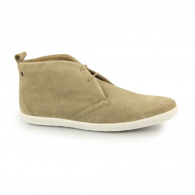 Base London ROADIE Mens Suede Desert Boots Taupe