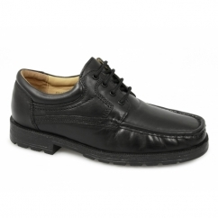 DANE Mens Lace-Up Apron Gibson Shoes Black