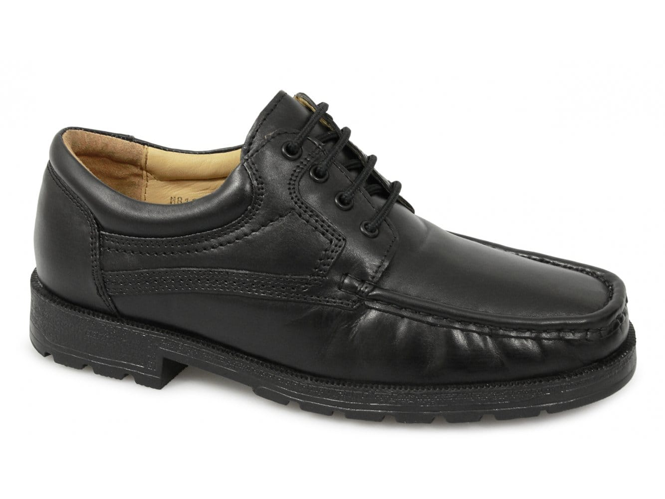 8142dbadd58 Roamers DANE Mens Lace-Up Apron Gibson Shoes Black