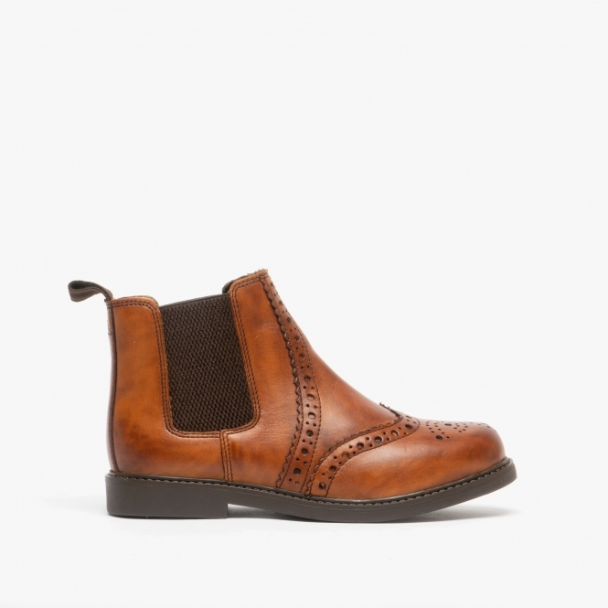 JOHNNY Boys Leather Casual Brogue