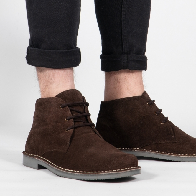 Wide Fit Casual Desert Boots Brown