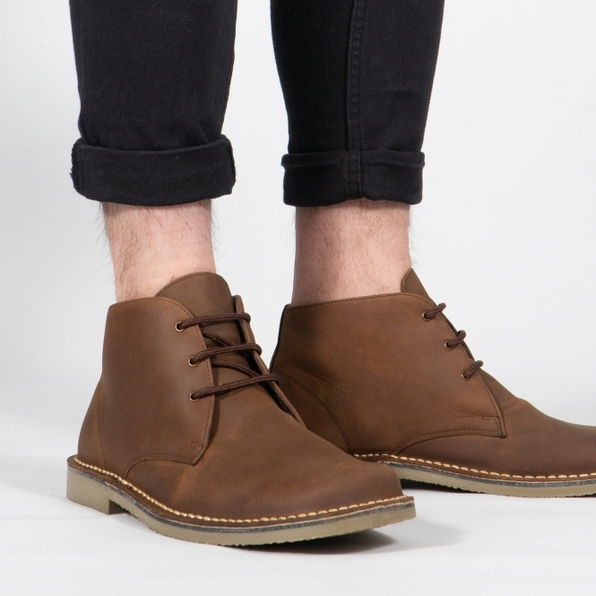 Roamers Mens Waxy Leather Wide Fit