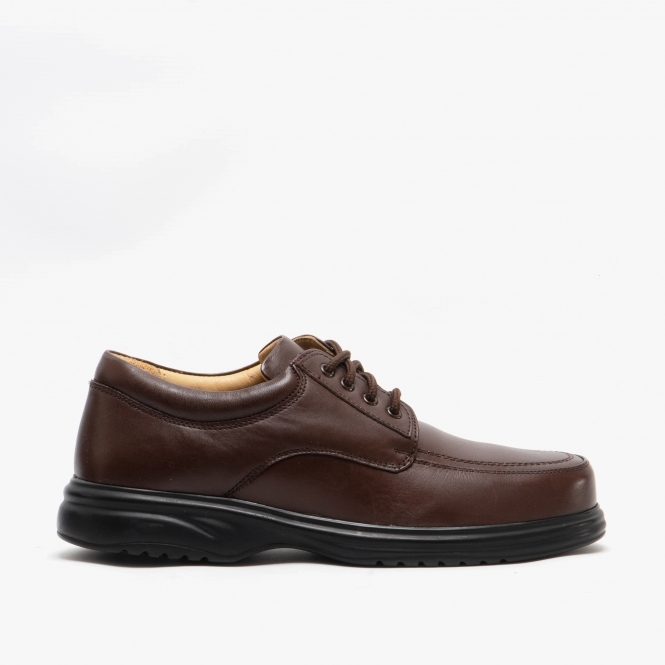 Roamers Mens Leather Comfy Lace-Up