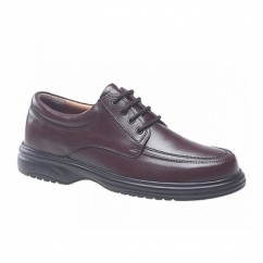 LOWELL Mens Leather Wide E Fit Shoes Brown
