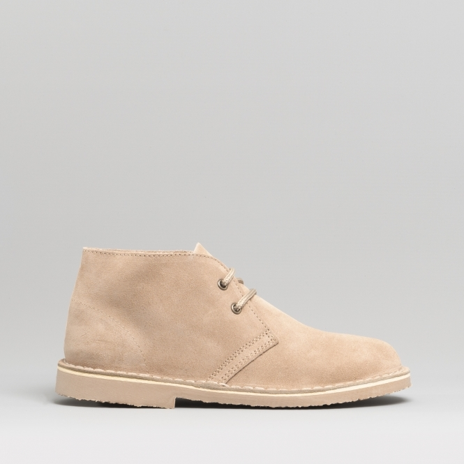 8986a804c Roamers Womens Ladies Soft Suede Leather Desert Boots Taupe