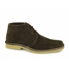 Mens 2 Eye Shaped Toe Suede Leather Desert Boots Brown