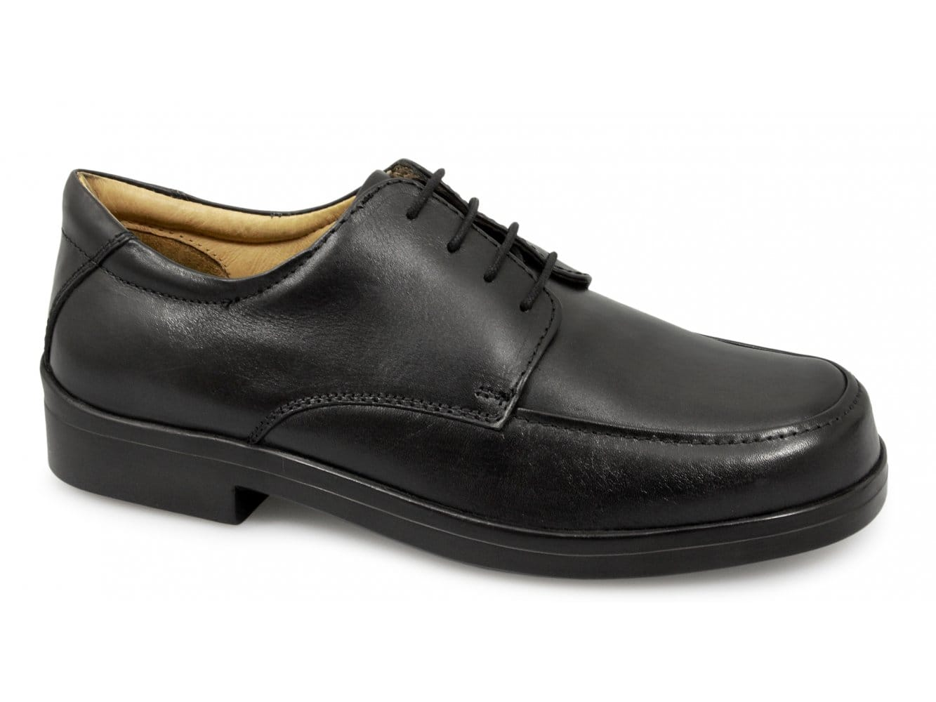 a3faf3588be Roamers Mens Lace-Up EEE Extra Wide Fit Shoes Black
