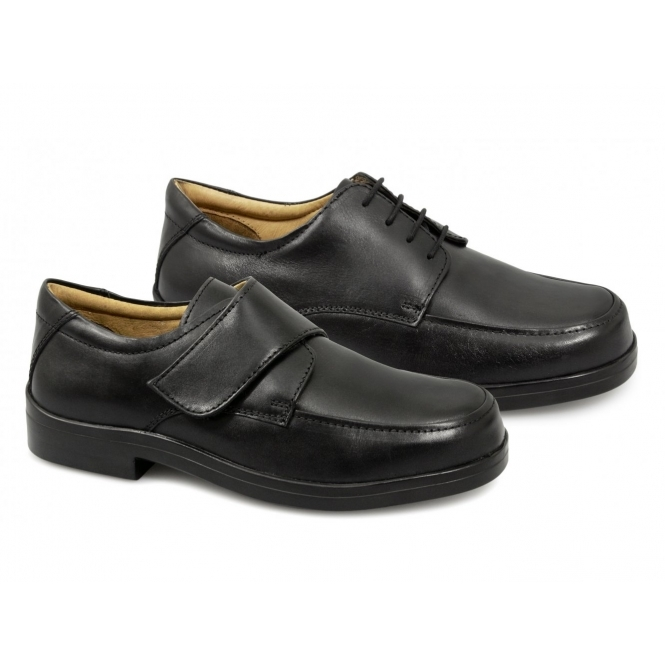 a1b15bf4 Roamers Mens Lace-Up EEE Extra Wide Fit Shoes Black   Buy At Shuperb