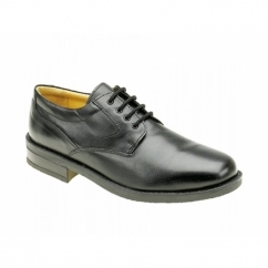 SPENCER Mens Lace-Up Gibson Shoes Black