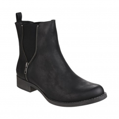 CAMILLA Ladies Ankle Chelsea Boots Black
