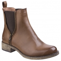 CAMILLA Ladies Gusset Chelsea Boots Brown