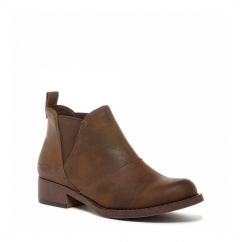 CASTELO Ladies Leather Chelsea Boots Brown