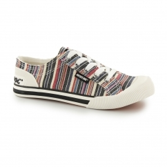 JAZZIN - ROADS Ladies Lace Up Trainer Shoes Multi