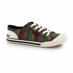 JAZZIN - ZANE Ladies Lace Up Trainer Shoes Multi