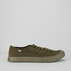 JUMPIN-COAST Ladies Lace Up Trainers Army