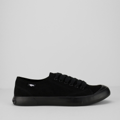 JUMPIN-COAST Ladies Lace Up Trainers Black