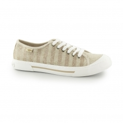 JUMPIN - HAYSTACK Ladies Lace Up Trainers Bronze