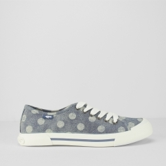 JUMPIN - STELLA Ladies Lace Up Trainers Blue
