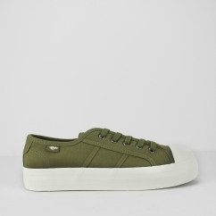 MAGIC-GUNNER Ladies Platform Heeled Trainers Olive