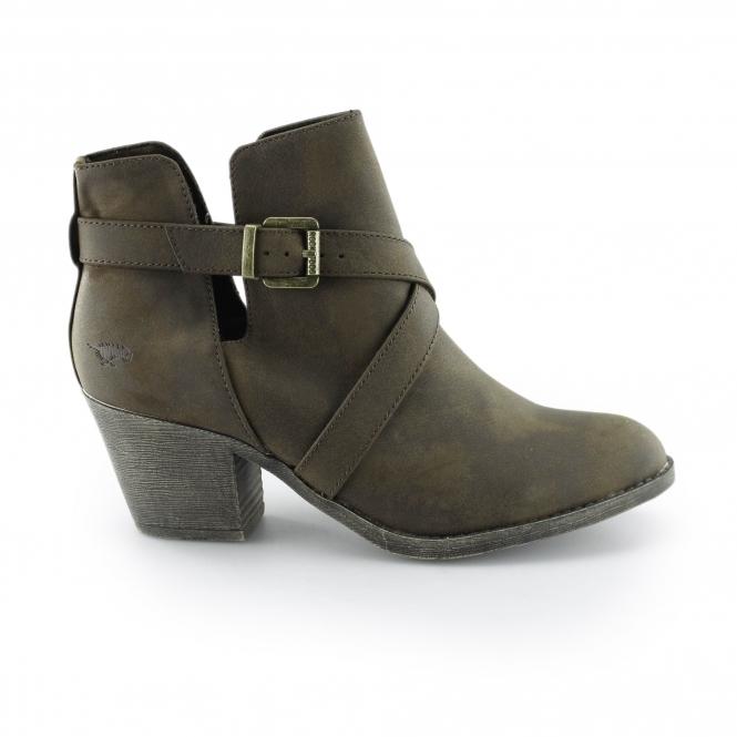 414b5d56d Rocket Dog SASHA Ladies Block Heel Ankle Boots Brown | Shuperb