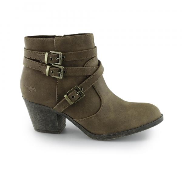 Rocket Dog Ladies High Block Heel Ankle Boots Tan Shuperb
