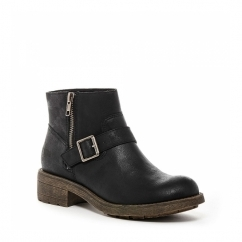 THYME Ladies Zip Ankle Boots Black