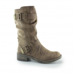Rocket Dog TRUMBLE Ladies Zip Up Buckle Biker Boots