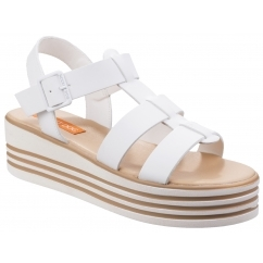 248ff23f8826 ZUMA AUSTIN Ladies PU Platform Sandals White. Rocket Dog ...