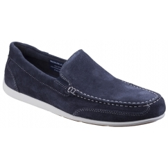 BENNETT LANE 4 Mens Suede Leather Loafers Blue
