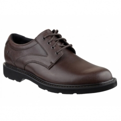 CHARLESVIEW Mens Leather Waterproof Derby Shoes Chocolate
