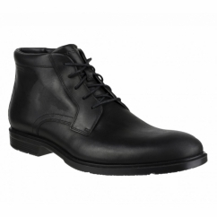 CITY SMART Waterproof Mens Leather Chukka Boot Black