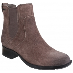 COPLEY CHRISTINE Ladies Leather Elasticated Boots Grey