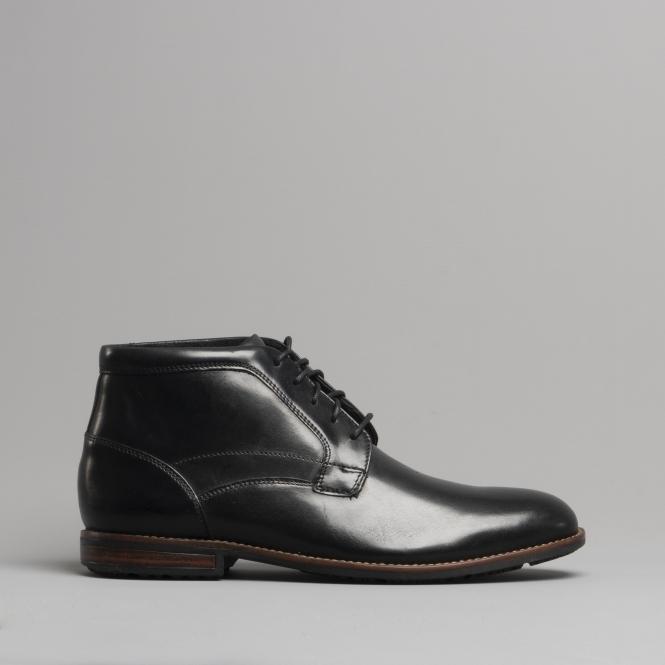 fb99947d2fa7 Rockport DUSTYN Mens Leather Chukka Boots Black