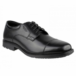 ESSENTIAL DETAILS CAP TOE Mens Leather Shoes Black