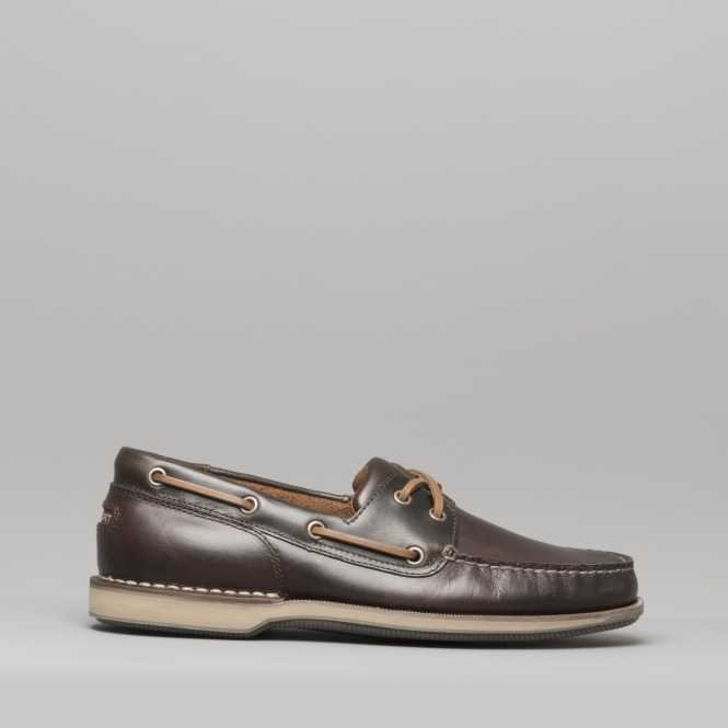 43ae07e9e8 Rockport PERTH Mens Breathable Leather Boat Shoes Brown