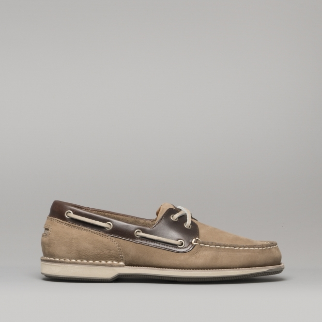 8185fb24d0 Rockport PERTH Mens Leather Summer Boat Shoes Taupe Beeswax